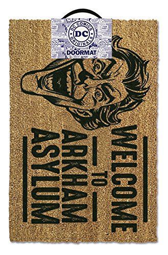 Pyramid International Door Mat The Joker (Welcome to Arkham Asylum) Fussmatte, Coconut with Rubber Bottom, Mehrfarbig, 60 x 1.5 x 40 cm