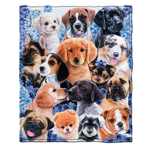 Dawhud Direct Puppy Collage Super Soft Plush Fleece Throw...
