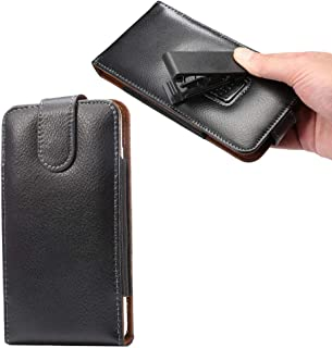 Premium Leather Swivel Belt Clip Holster Pouch Phone Holder Case for Galaxy Note 10+, Note 9, Note 8, A10 / iPhone 11 Pro Max/BLU ViVo XL4, XL3 Plus, ViVo 8, XL+ / ZenFone Max Plus, Max Pro, 5Z (L)