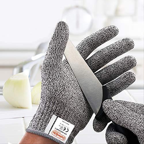CustomGrips Schnittfeste Handschuhe Stufe 5, höchste Schutzsicherheit, Lebensmittelqualität, hohe Leistung zum Schneiden von Fleisch, Austernschaltern und Küchenarbeiten [X-Large]