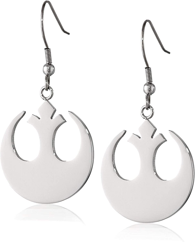 Star Wars Stainless Steel Rebel Alliance Drop Dangle Earring For Women