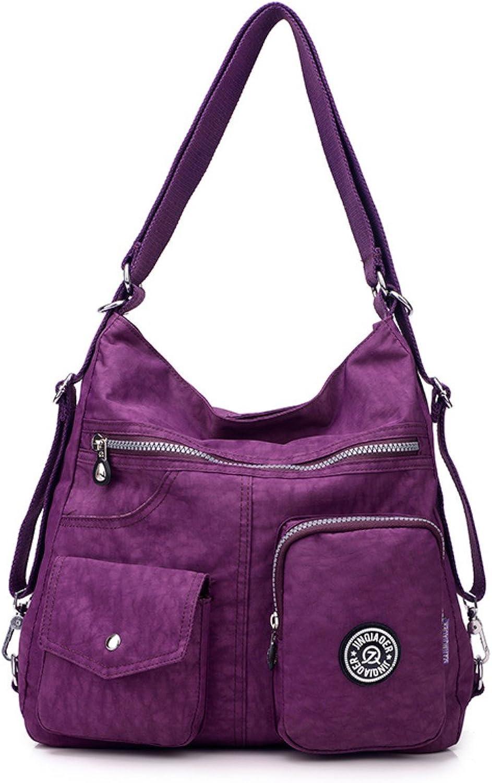 Water Resistant Women Durable Daypacks Travel Backpacks Nylon Backpacks Casual Handbags