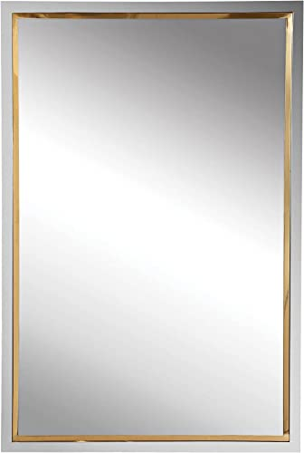 """high quality Uttermost Locke Chrome online and Gold 20"""" x 30"""" online sale Vanity Wall Mirror outlet sale"""