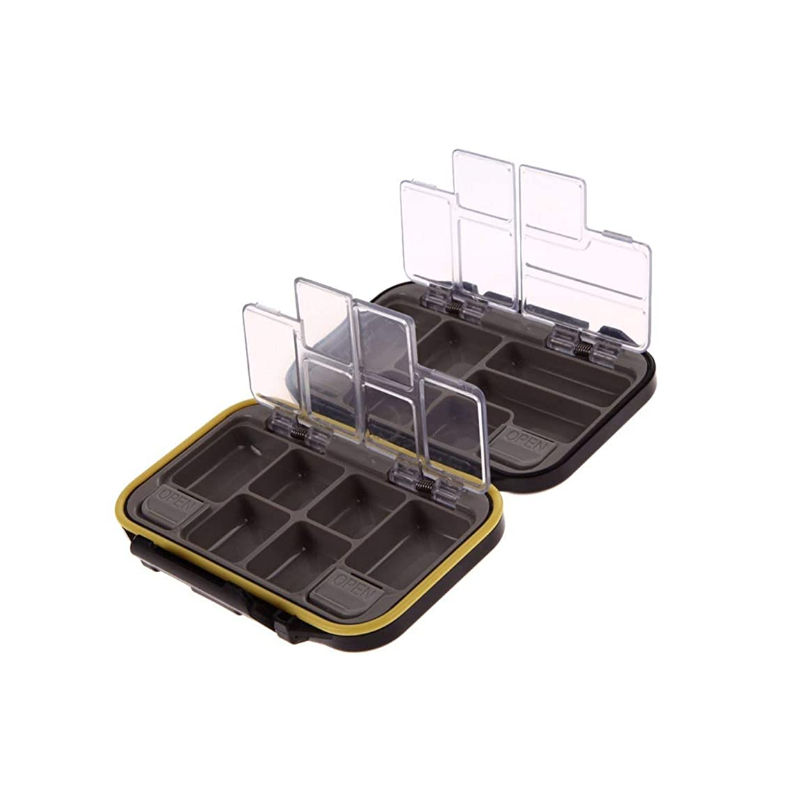 Fishing-Tackle-Boxes12 Compartments Waterproof Fishing Tackle Storage Box Eco-Friendly Plastic Fishing Lure Bait Tackle Durable Fish Pocket Box Bag