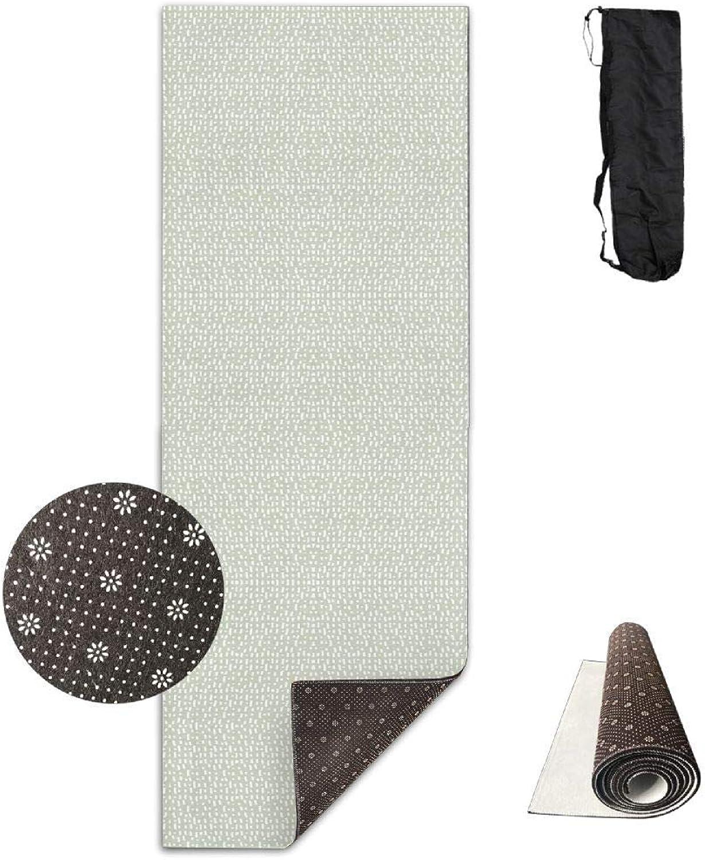 70Inch Long 28Inch Wide Comfort Velvet Yoga Mat, Stroke Fall Blossom 122 Fabric (2816) Mat Carrying Strap & Bag