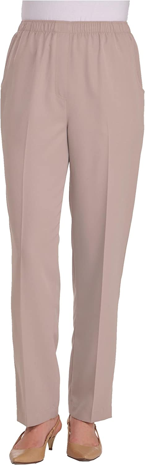 Alia Womens Microfiber Pull On Pants