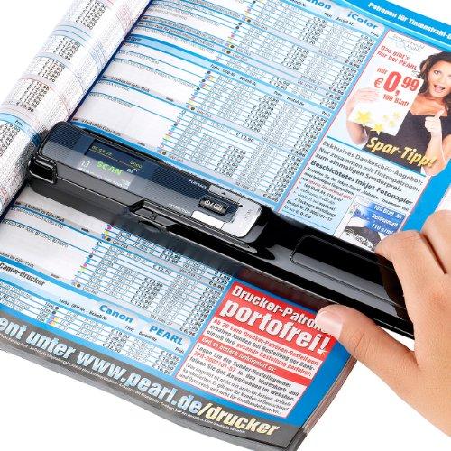 Somikon Dokumentenscanner: 2in1-Scanner: mobiler Handscanner mit Dockingstation 900 DPI (Hand Einzug Scanner)