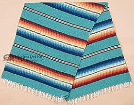 Rio Bravo Blanket -Old El Paso Mexican Serape Style Falsa Blanket -Southwestern Throw Blanket for Rustic Cabin, Lodge, Western Decor, Yoga, Travel, Sports or Wrap, 56
