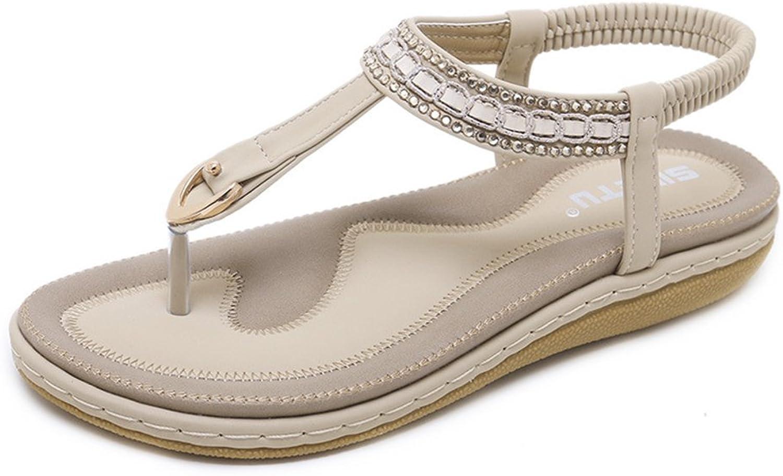 Navoku Leather Outdoor Flat Sandal Women's Thong Sandles
