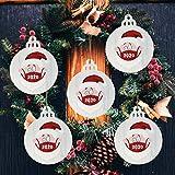 1 Pieza 2020 Adorno navideño Papá Noel con una mascarilla Decorar árbol de Navidad hogar y jardín decoración del hogar