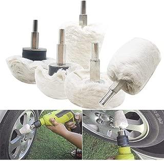 GraceYou Polishing Buffing Pad Kit, 5pc Polishing Buffing Pads Mop Wheel Drill for Car Wheels/Metal Aluminum/Stainless Steel/Chrome/Wood/Ceramic/Glass