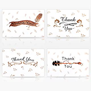 Geekper 16 Pack Kraft White Assorted Greeting Cards for Wedding Thanksgiving Christmas Baby Shower with Envelope 7.9 x 5.9...