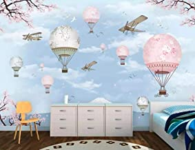 ZDBWJJ Custom Wallpaper Mural Cartoon hot air Balloon Background Wallpapers Home Decor Wall paper-120cmx100cm