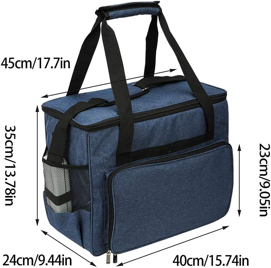 rethyrel N/ähmaschinentasche Koffer-N/ähmaschinen-Tragetasche wasserdichte Einkaufstasche mit Aufbewahrungstaschen Tragbare Rei/ßverschlusstasche F/ür die meisten Standard-N/ähmaschinen und Zubeh/ör