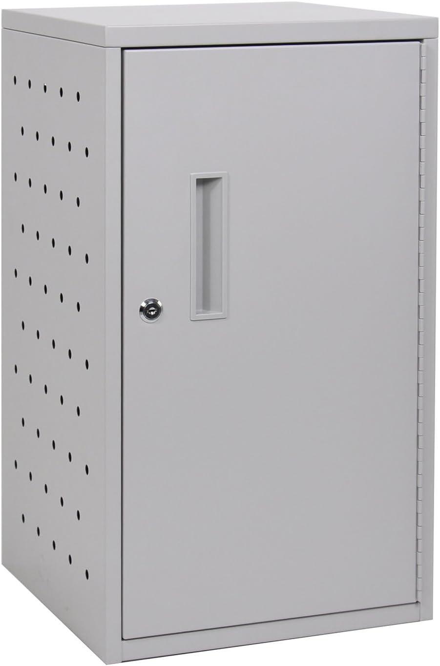 Offex Steel Vertical Wall Mesa Mall Desk Box Charging Door with service Lockable