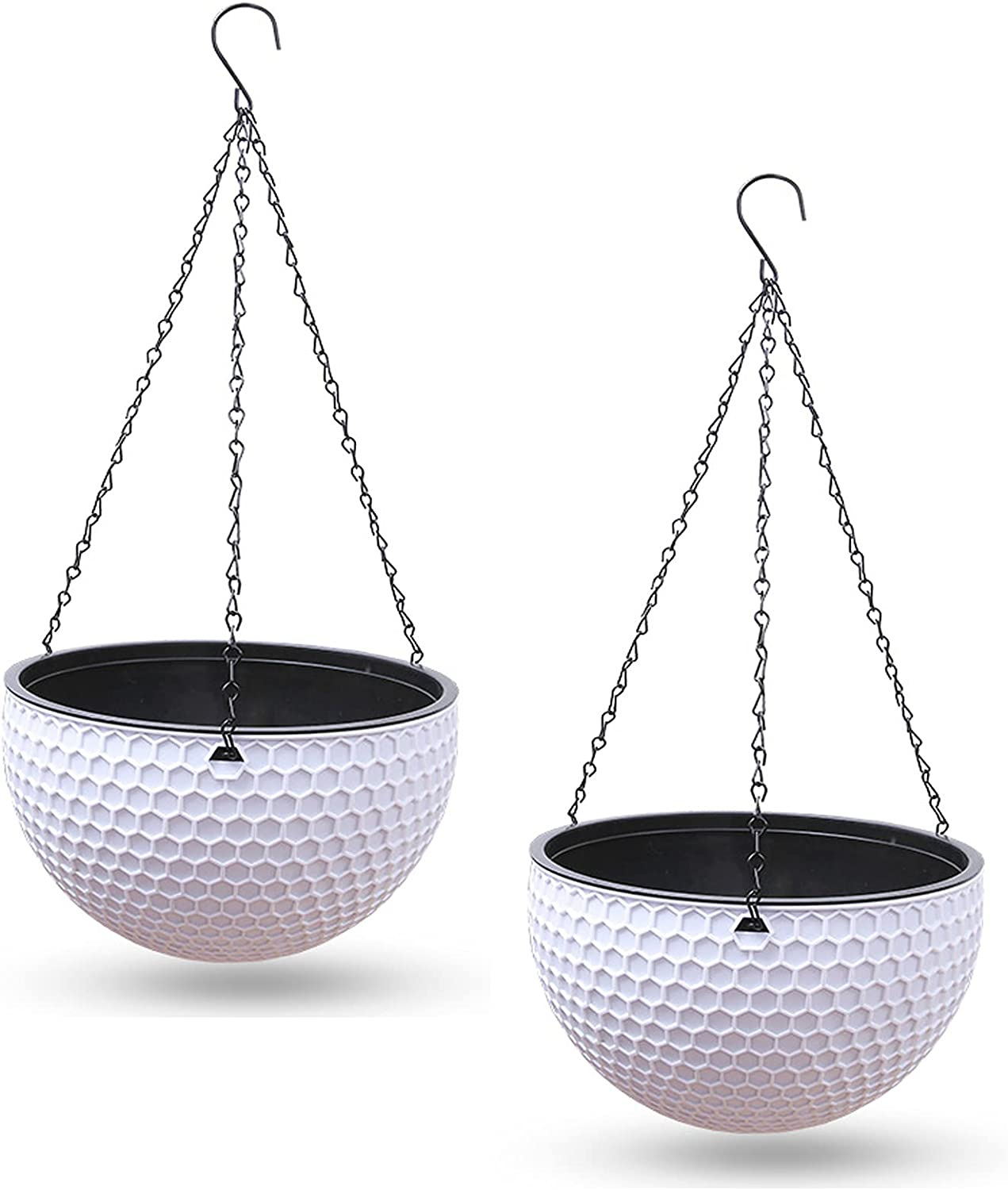 Popular products Zentto Hanging Planters 2 Pack Flower Philadelphia Mall Out Indoor Pots for Plants