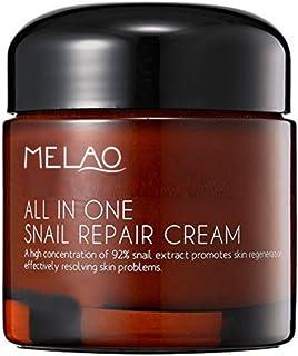 Crema de Baba de Caracol antiarrugas para cara Melao - Concentrado puro con 92% de moco de caracol - Olla de gran capacida...