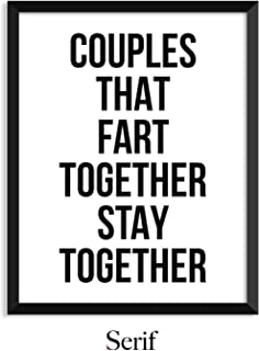 Best couples that fart together stay together card Reviews