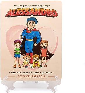 Crociedelizie, Idea regalo festa del papà compleanno targa quadro quadretto targhetta personalizzata personalizzabile nome...