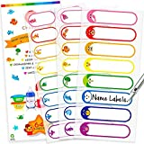 Baby Bottle Labels for Daycare, Self-Laminating, Waterproof Write-On Name Labels, Assorted Sizes & Colors,...
