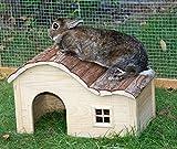 Kerbl Maison pour Rongeurs avec Toit Galbé Nature 40x25x25 cm