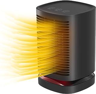 LHZHG Calefactor Portátil Eléctrico, Cerámico 950W Mini Ventilador de Calefactor de Espacio, 3 Configuraciones de Temperatura, Doble Protección de Seguridad, para Hogar y Oficina