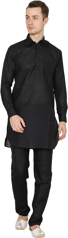 Royal Men's Luxury Cotton Pathani Kurta Pyjama Set