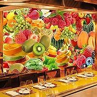 Djskhf 任意のサイズの壁紙3Dフレッシュフルーツ壁画レストランカフェフルーツ店の背景の壁の装飾現代壁画壁紙 100X50Cm