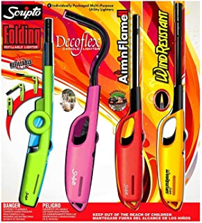 Scripto 4 Individually Packaged Multi-Purpose Utility Lighters