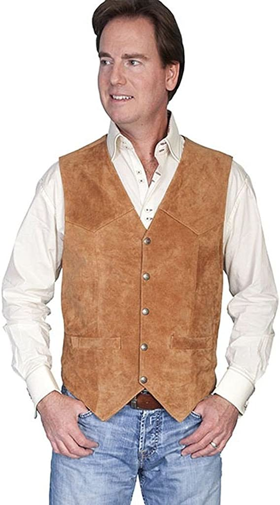 Scully Mens Leather Vest