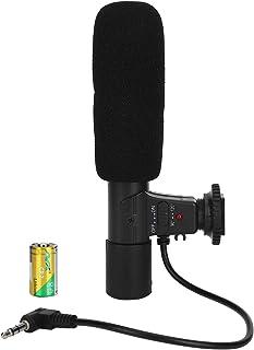BLLBOO-Micrófono estéreo-Micrófono para cámara DV para SLR Grabación de entrevistas externas Video digital Micrófono estéreo