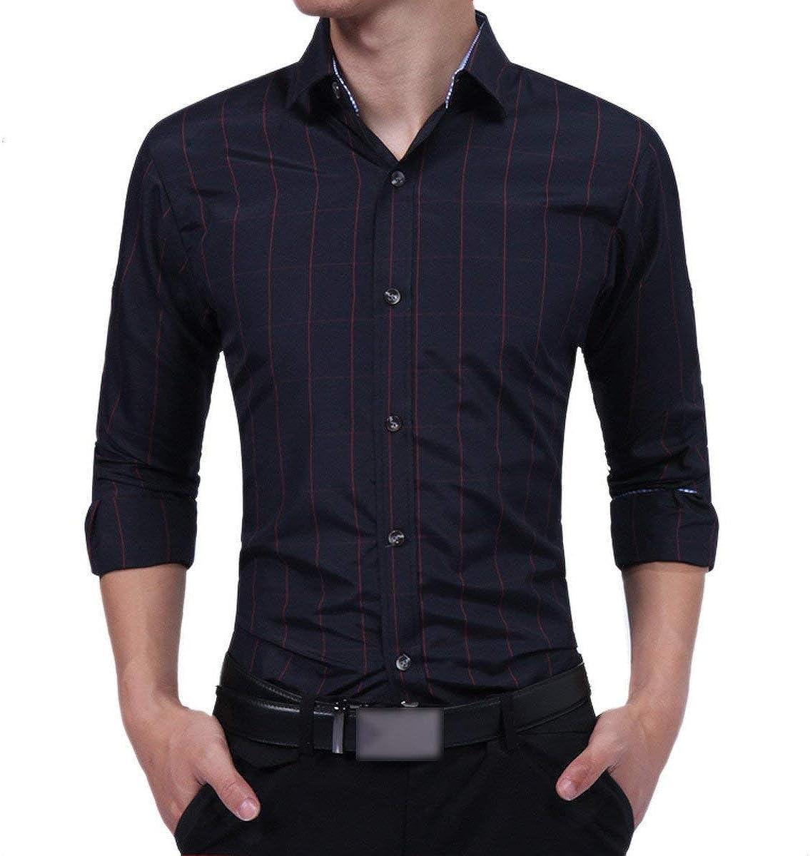 Hombre Otoño Blusa De Rayas Finamente Moda En Forma De ...