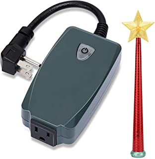 Wireless Remote Control Outlet with Magic Wand, Wireless Remote Switch for Christmas Tree and Decorative Lights Indoor/Outdoor, Good Christmas Gift for Kids, Friends, Family