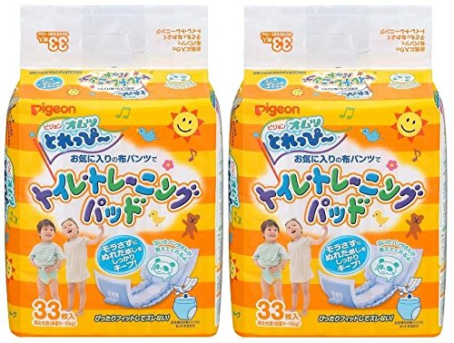 【まとめ買い】ピジョン オムツ とれっぴ~ トイレトレーニングパッド 33枚入×2個パック