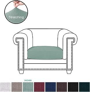 ZC-MALL Spandex Jacquard Fabric for Armchair Cushion Stretch Chair Cushion Cover Sofa Cushion Sofa Cushion Furniture Protector Sofa Seat Sofa Slipcover Cushions Covers(Chair Cushion,Sage)