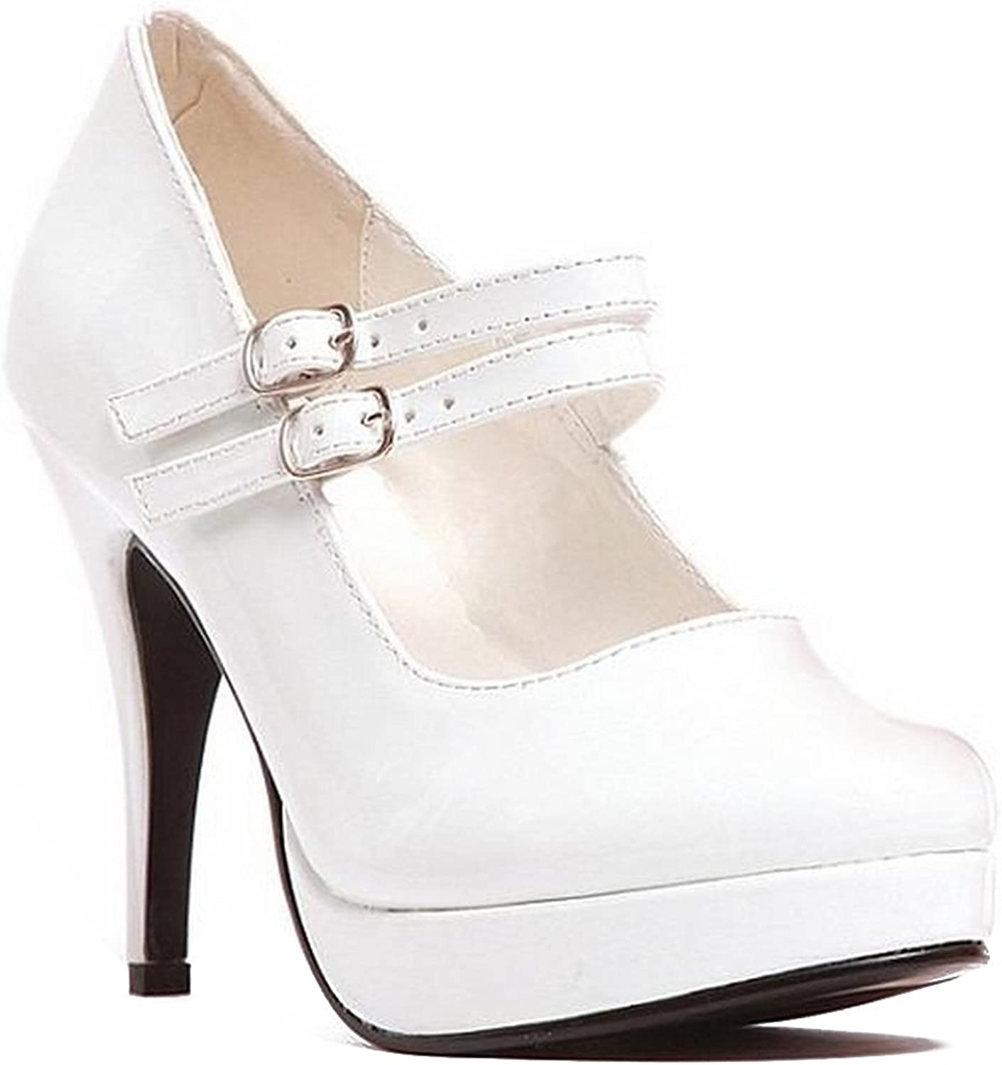 Ellie shoes Women's 421-Jane Platform Pump White