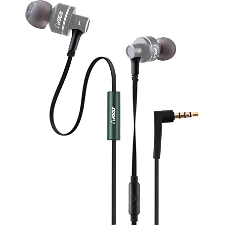 VOGIX® Trendz E01 New Super Bass Headphones with Mic (Trendy Gray)