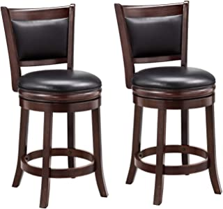 24 inch bar stools with back swivel