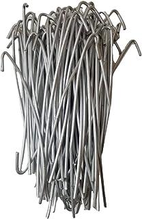 "BestPro 8-1/4"" (100 Pack) Chain Link Fence 9 Ga Aluminum Wire Ties Fence Hooks Ties Aluminum Hook Tie Wires - Anti Rust"