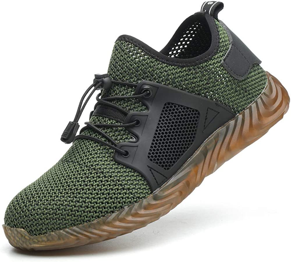 Lightweight Breathable Puncture Proof Work Sneaker Industrial Outdoor Sport Footwear Ceville Mens Steel Toe Safety Shoes