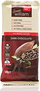 Sweet William No Added Sugar Dark Chocolate Bar 100 g