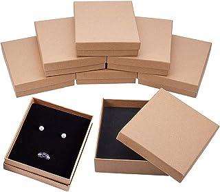 BENECREAT 8パックギフトボックス ラッピングボックス アクセサリーボックス ジュエリー収納ボックス 指輪 ピアス ネックレスボックス 長方形