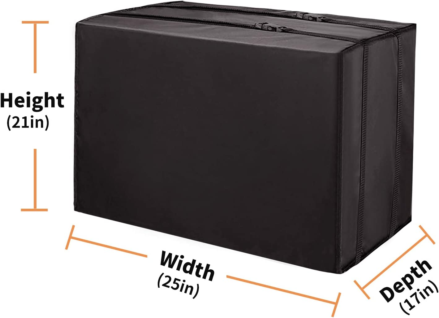 IMUER Outdoor Air Conditioner Cover for Window Units Bottom Covered with Straps Medium Black 25 x 21 x 17 inches L x H x D Dust-Proof/&Waterproof Window AC Cover for Outside,Heavy Duty Defender