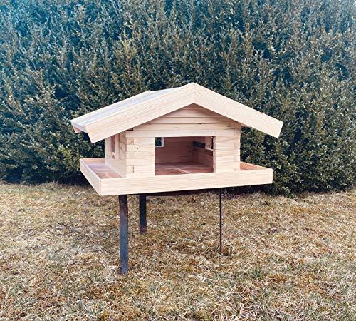 Vogelhaus Vogelfutterstation Almhütte ca. 50x45cm Brandl Produkte - Handg'macht in Bayern