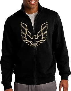 Men Pontiac Firebird Logo GTA Trans Am Retro Sweatshirt Zip-up Jacket Sweatshirt Black