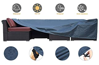 UXUNBlue Outdoor Furniture Set Cover Patio Sectional Covers Outdoor Table and Chairs Covers Water Resistant Heavy Duty 128