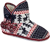 Women's Ladies Bootie Boot Slippers Size 3 4 5 6 7 8 UK 'Dancer Idea Fairisle Style
