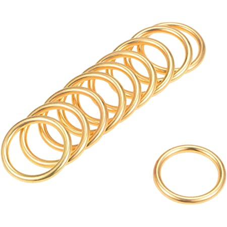 """6 Pcs O Ring Buckle 1.6/"""" O-Rings Black for Hardware Bags Craft DIY 40mm"""