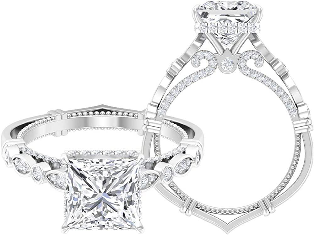 Mail order cheap Rosec Jewels - Princess Cut At the price Ring with Solitaire Engagement