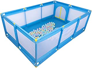 WJSW 50 quot  74 8 quot  Rectangle Baby Playpen Children s Play Fence Compact Strong Play Yard Toys Washable Ocean Ball Pool for Babies Toddler Newborn Infant Safe Crawling